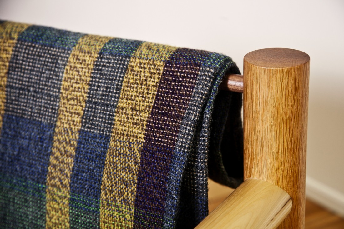 Max-Lamb_Woodware_Lounge-chair-with-blanket_detail