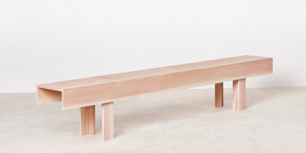 Planks Bench By Max Lamb - angled