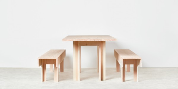 Planks Dining Table & Bench by Max Lamb